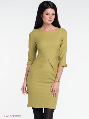 Платье IMAGO. Цвет: оливковый