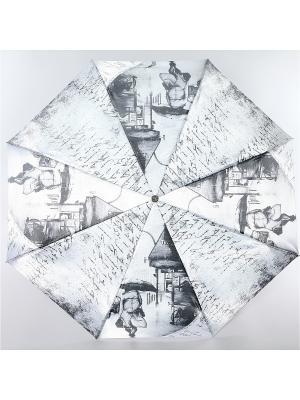 Зонт Trust Женский, 3сложения, Автомат, Полиэстер, Фото-Сатин. Цвет: темно-серый, бежевый, кремовый