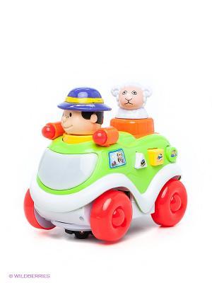 Музыкальная игрушка Машинка VELD-CO. Цвет: зеленый, красный, оранжевый, белый