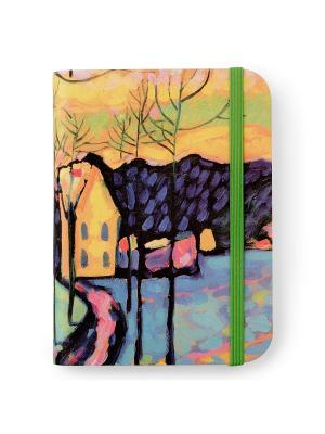 Флорентийская записная книжка. Зимний пейзаж Власта. Цвет: голубой, розовый, желтый