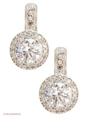 Серьги Lovely Jewelry. Цвет: белый, серебристый