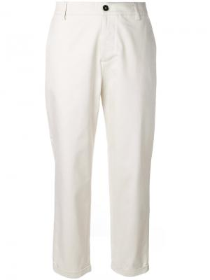 Укороченные брюки Barena. Цвет: телесный