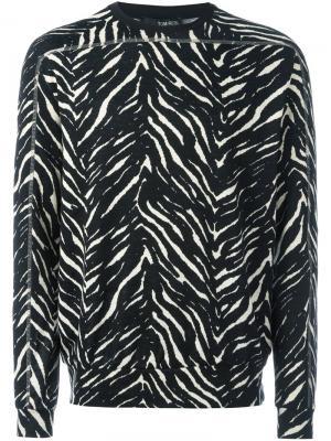 Толстовка кроя слим Zebra Tom Rebl. Цвет: чёрный