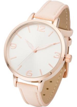 Наручные часы (телесный/розово-золотистый) bonprix. Цвет: телесный/розово-золотистый