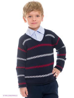 Пуловер Anco. Цвет: темно-синий, красный