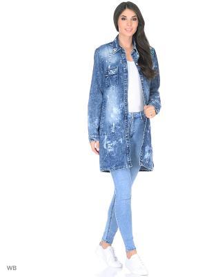 Куртка Dreamers. Цвет: синий