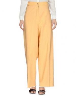 Повседневные брюки DANIELA PANCHERI. Цвет: охра
