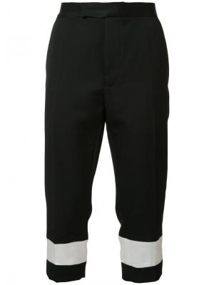 Укороченные брюки прямого кроя Haider Ackermann. Цвет: чёрный