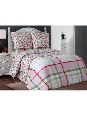 Комплект постельного белья Блакiт. Цвет: зеленый, красный, розовый