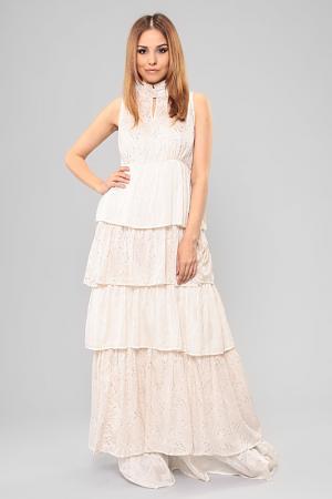 Платье By ti Mo. Цвет: бежевый