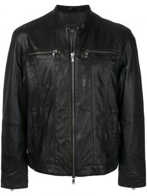 Байкерская куртка на молнии John Varvatos. Цвет: чёрный