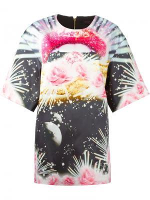 Платье-шифт с абстрактным принтом Manish Arora. Цвет: чёрный