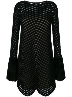 Flared embroidered dress Antonino Valenti. Цвет: чёрный