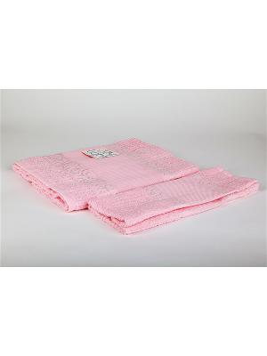 Комплект полотенец 2 предмета Onda La Pastel. Цвет: розовый