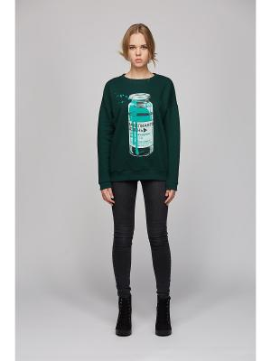 Свитшот Play Fashion. Цвет: темно-зеленый