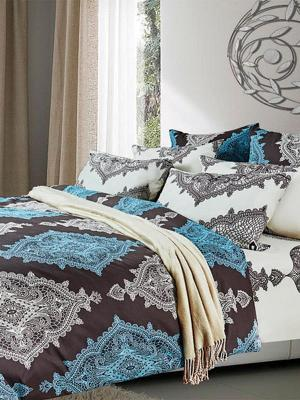 Комплект постельного белья Primavelle. Цвет: бирюзовый, коричневый, бежевый
