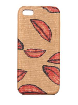 Чехол для Iphone 5/ 5S Lola. Цвет: коричневый, красный