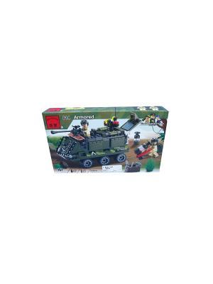 Конструктор пластиковый Бронетранспортер ENLIGHTEN. Цвет: темно-зеленый