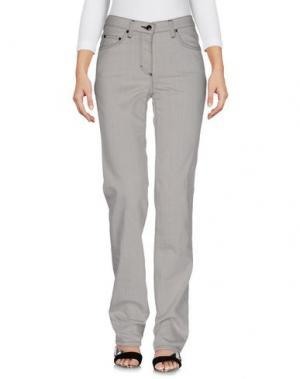 Джинсовые брюки BARONI. Цвет: серый