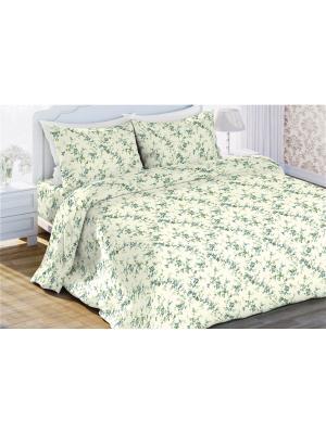 Комплект постельного белья евро бязь Пробуждение Любимый Дом. Цвет: бежевый