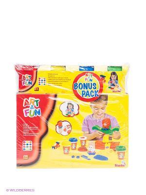 Набор пластилина Парикмахерская Simba. Цвет: желтый, красный
