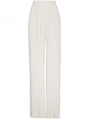 Широкие полосатые брюки Lot78. Цвет: белый