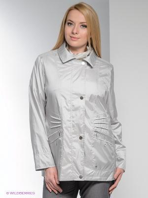 Куртка WEGA. Цвет: серебристый