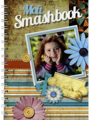 Блокнот Мой Smashbook Девочка с цветочками Попурри. Цвет: белый