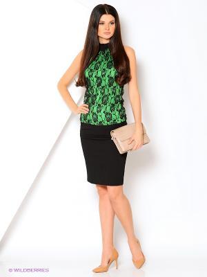 Блузка GALLA. Цвет: черный, зеленый