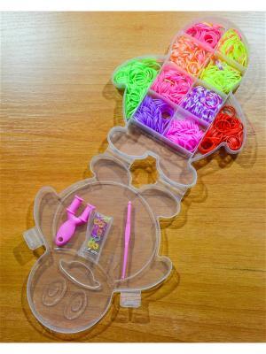 Набор резинок для плетения 500 рогатка крючок S-зажимы Loom Bands. Цвет: прозрачный