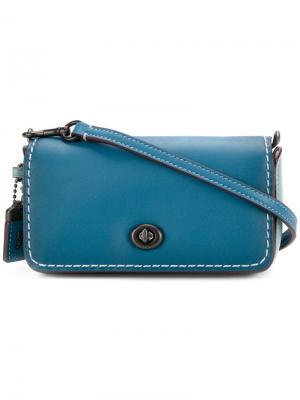 Mini crossbody bag Coach. Цвет: синий