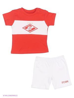 Спортивный костюм Atributika & Club. Цвет: белый, красный