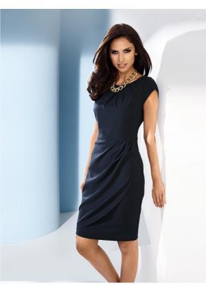 Платье футляр Class International. Цвет: голубой, коралловый, серо-коричневый, темно-синий