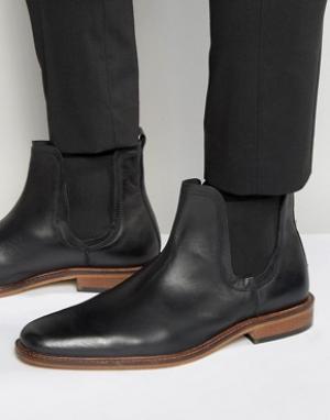 Dune Черные кожаные ботинки челси. Цвет: черный