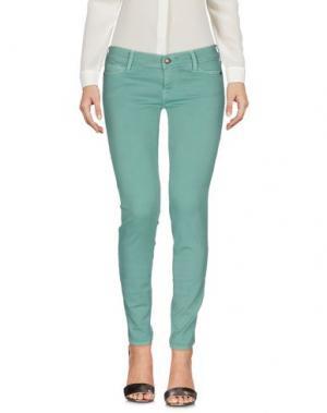 Повседневные брюки HTC. Цвет: светло-зеленый