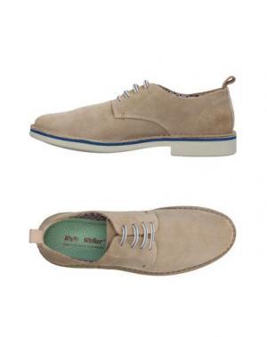 Обувь на шнурках WALLY WALKER. Цвет: бежевый
