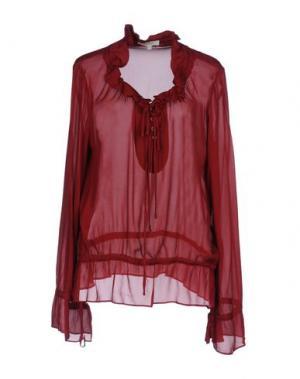 Блузка KORALLINE. Цвет: кирпично-красный