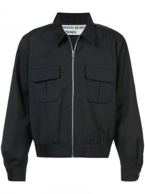 Куртка-бомбер с фотопринтом Enfants Riches Déprimés. Цвет: чёрный