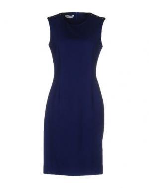 Короткое платье BIANCOGHIACCIO. Цвет: ярко-синий