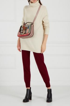 Бордовые брюки из кашемира Addicted. Цвет: красный