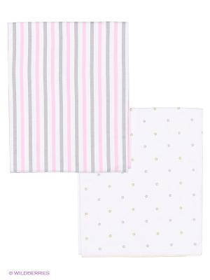 Пеленка, 2 шт HappyBabyDays. Цвет: розовый, светло-серый