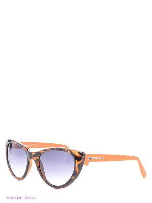 Солнцезащитные очки Franco Sordelli. Цвет: коричневый, оранжевый