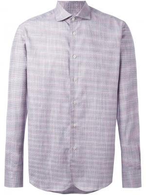 Рубашка в клетку Al Duca D'Aosta 1902. Цвет: розовый и фиолетовый