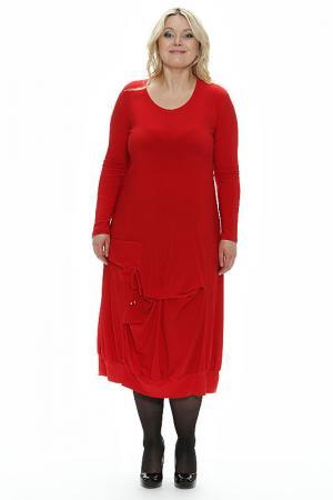 Платье фаина Зар-Стиль. Цвет: красный