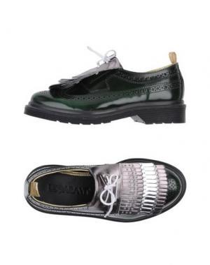 Обувь на шнурках LE QARANT. Цвет: зеленый