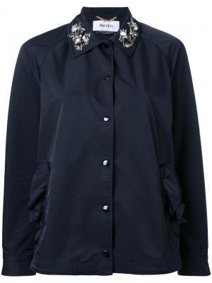 Куртка с декорированным воротником Muveil. Цвет: чёрный