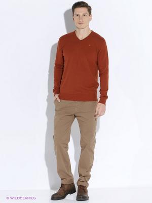 Пуловер Men of all nations. Цвет: терракотовый