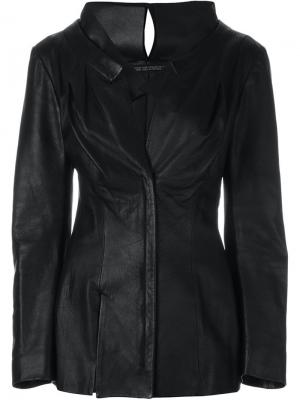 Приталенная куртка Yohji Yamamoto Vintage. Цвет: чёрный