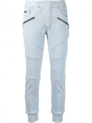 Спортивные брюки с карманами на молнии Loveless. Цвет: серый