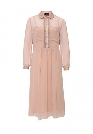 Платье Atos Lombardini. Цвет: розовый